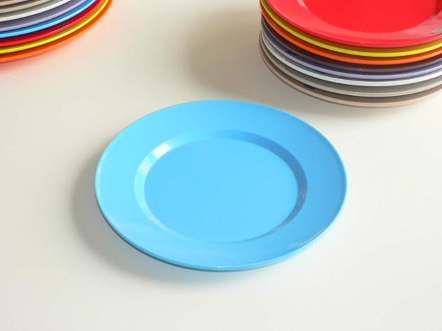 assiette dessert bleue en m lamine platex. Black Bedroom Furniture Sets. Home Design Ideas