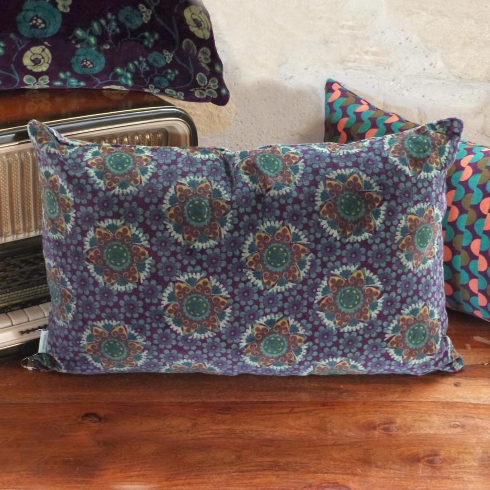 Grand Coussin Velours Gustave Fig 55x35 cm Les Touristes