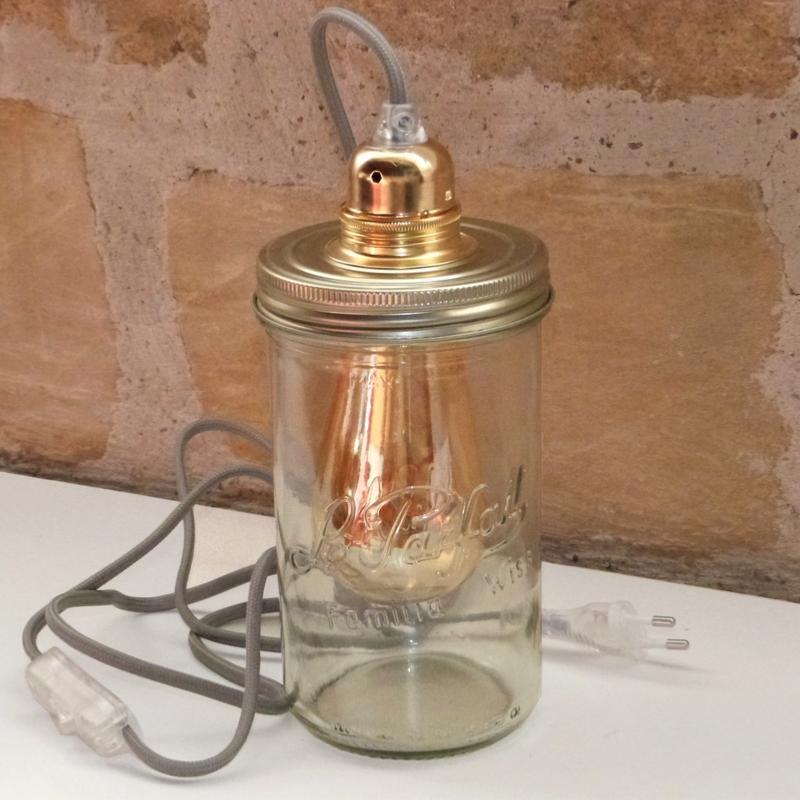 lampe bocal en verre luminaire bocaux. Black Bedroom Furniture Sets. Home Design Ideas