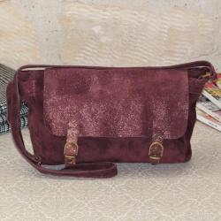 Sac Bandoulière Cartable Mix Bordeaux Miss Lily
