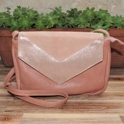 Sac Smooth en Cuir Nude Crazy Lou