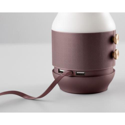 Enceinte Lanterne Batterie de Secours Terrace Marron Lexon
