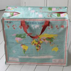 Sac de Rangement Jumbo Bag World Map