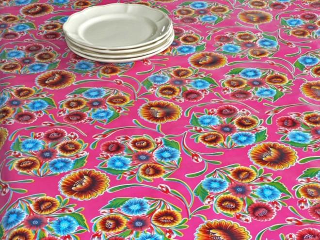 toile cir e kitsch kitchen floralpola fuschia. Black Bedroom Furniture Sets. Home Design Ideas