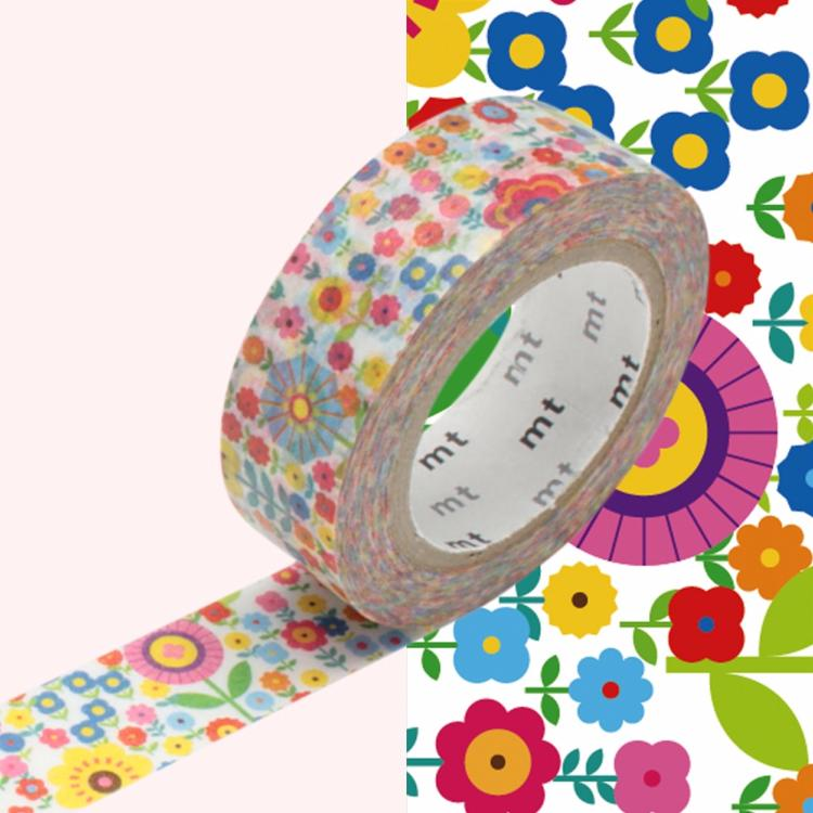 Masking tape liberty fleurs multicolores