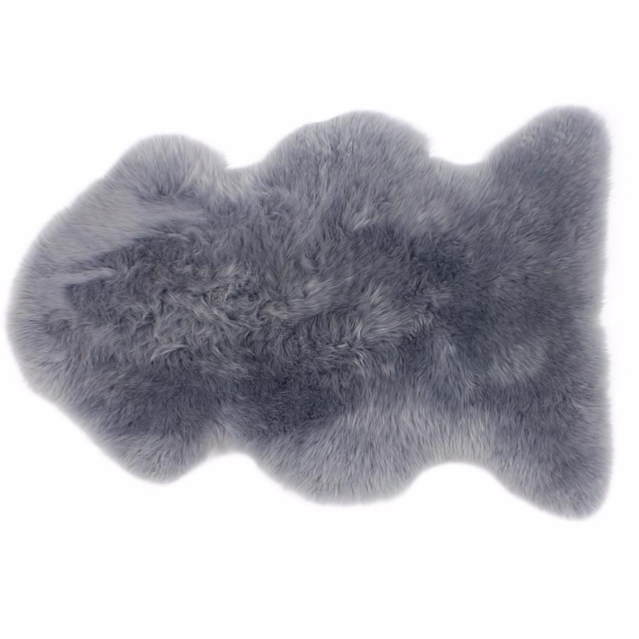 tapis peau de mouton platinum fibre by auskin - Tapis Peau