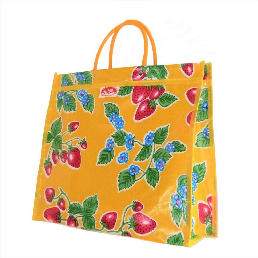 Sac Shopping Jaune Fraises Kitsch Kitchen