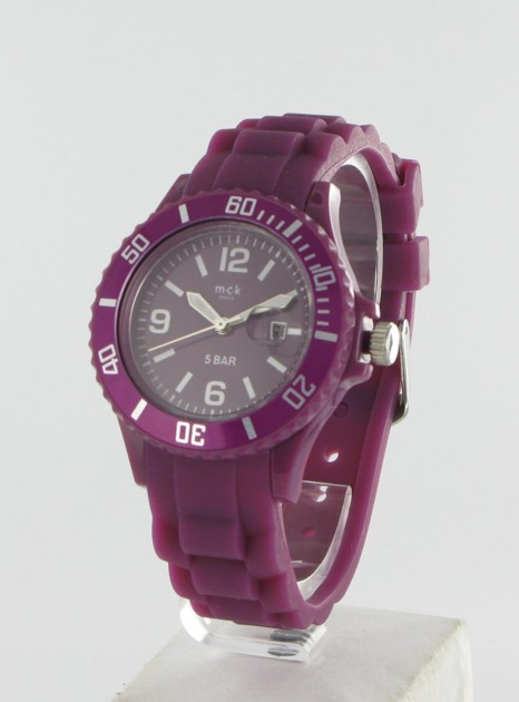 Montre Femme Silicone Sport Prune