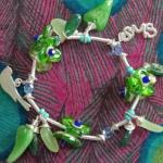 Bracelet Résine Green Leaves Orna Lalo