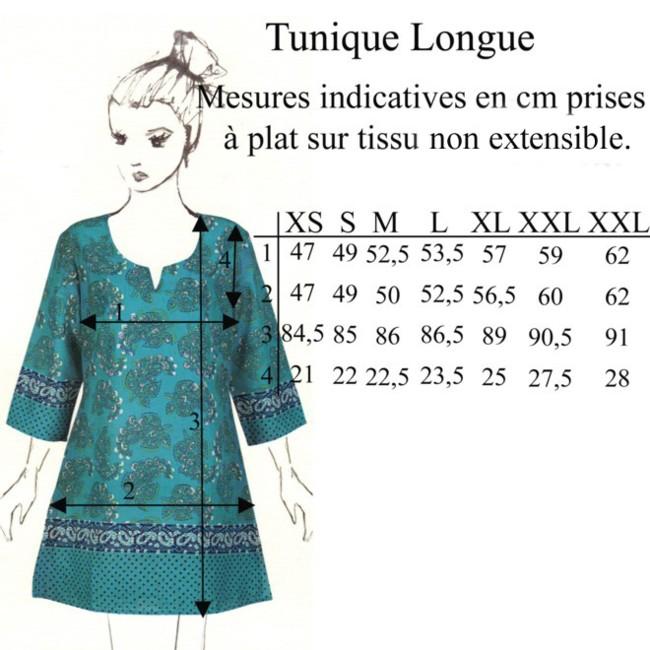 Tunique longue ariel blanc la fianc e du m kong - Rideaux la fiancee du mekong ...