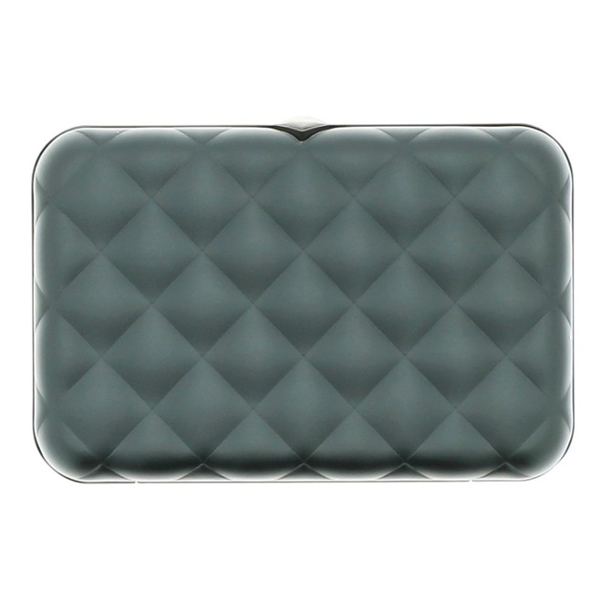 Porte Cartes Ögon Quilted Button Platinium