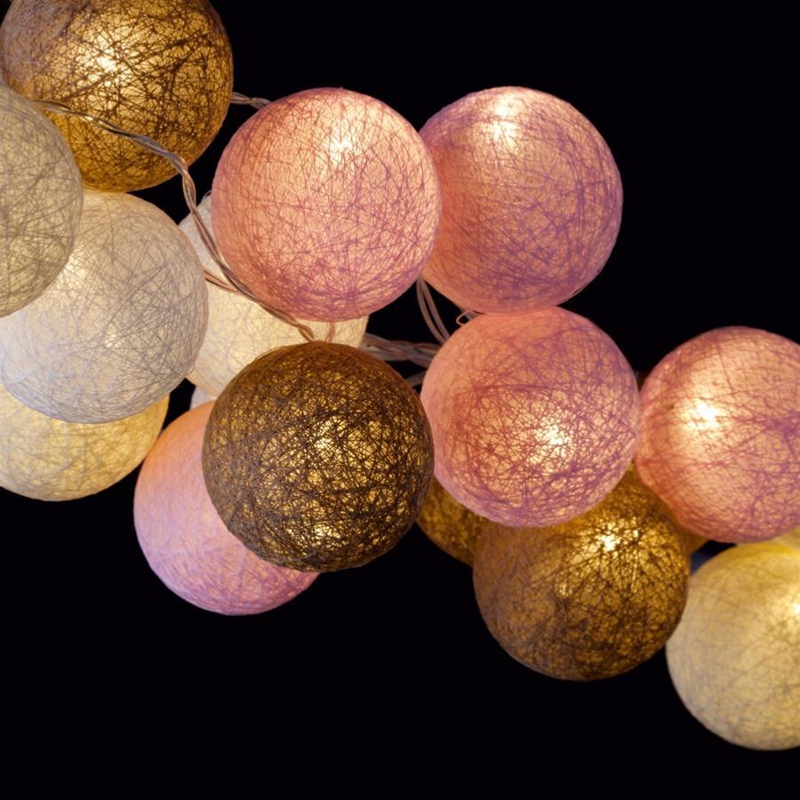 guirlande lumineuse led 20 boules delicate blush. Black Bedroom Furniture Sets. Home Design Ideas