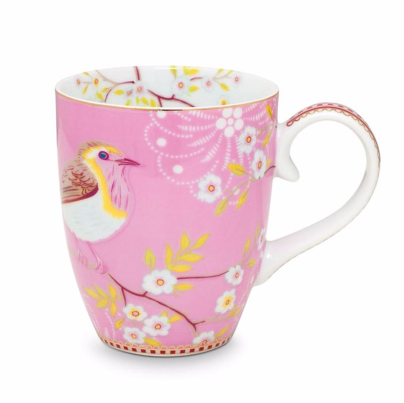 Grand Mug Oiseau Rose Pip Studio