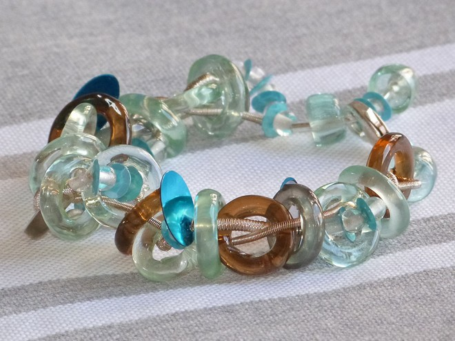 Bracelet Blue Rings Design Orna Lalo