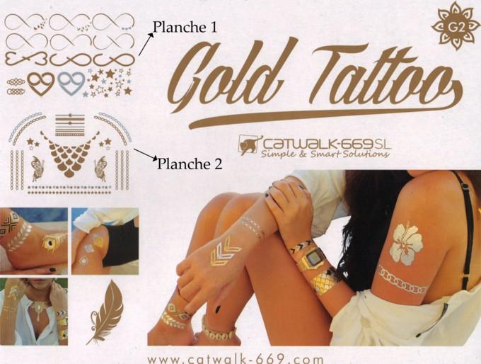 Gold Tattoo Tatouage Ephemere De Catwalk