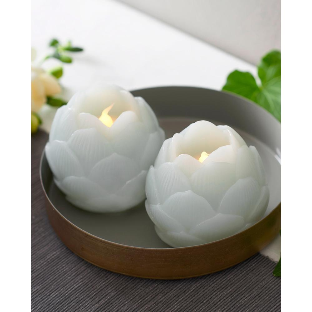 Set de 2 Bougies Décoratives Hélène LED Almond Sirius