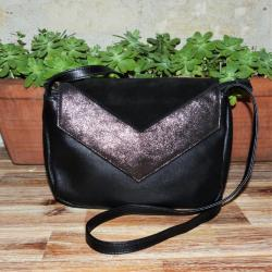 Sac Smooth en Cuir Noir Crazy Lou