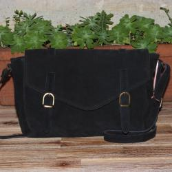 Sac Cartable Soft Noir Crazy Lou