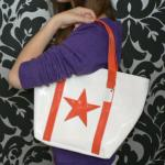 Sac Cabas City Jouy Blanc/Etoile Orange Anne-Charlotte Goutal