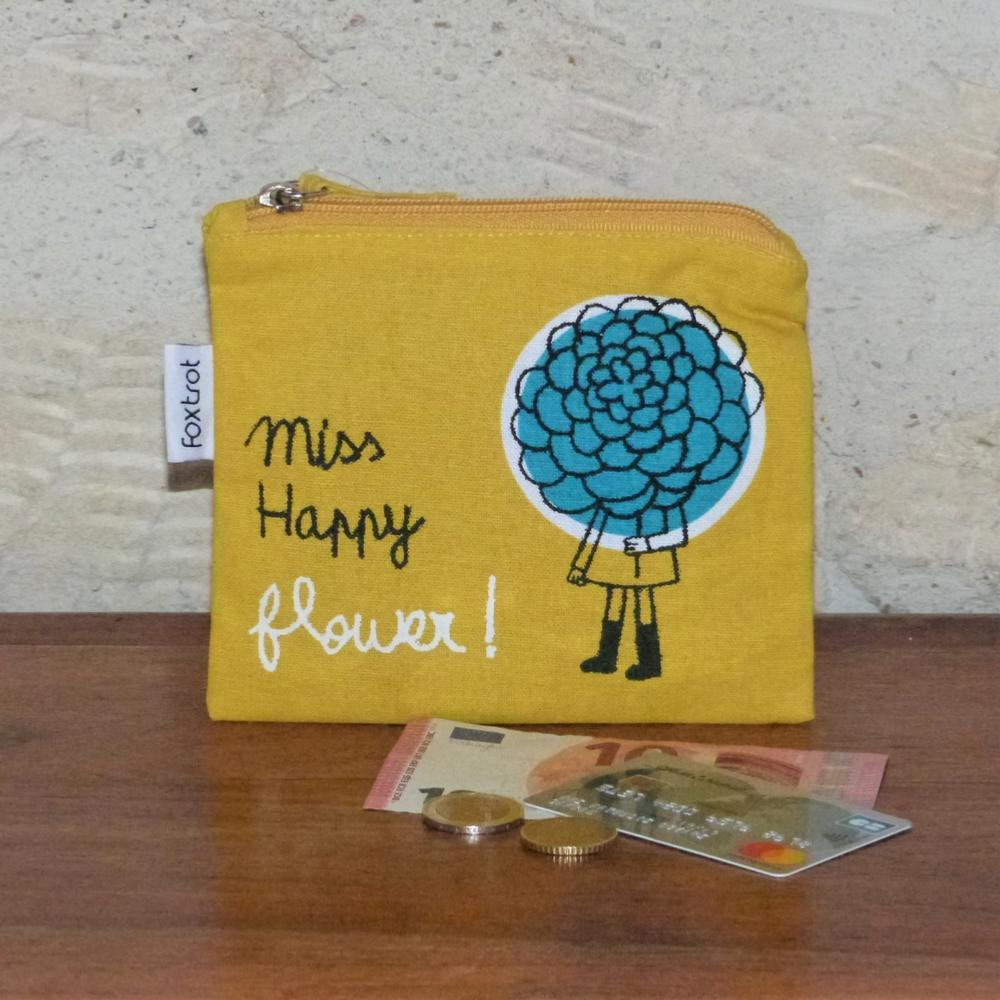 Porte-Monnaie Miss Happy Flower Jaune 100drine