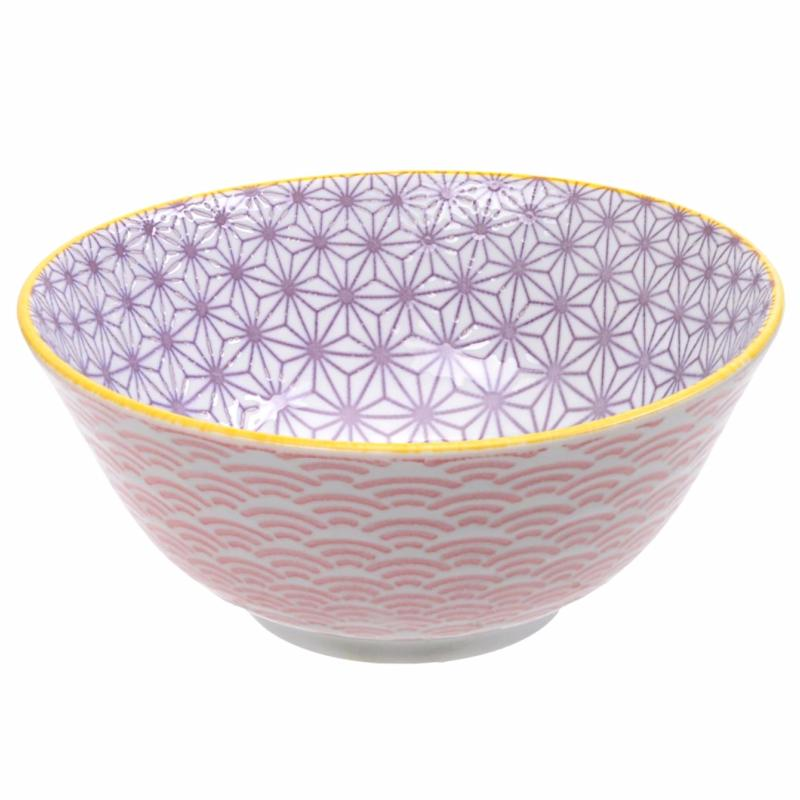 Bol Tayo Star Wave 15,2 cm Purple Pink Porcelaine