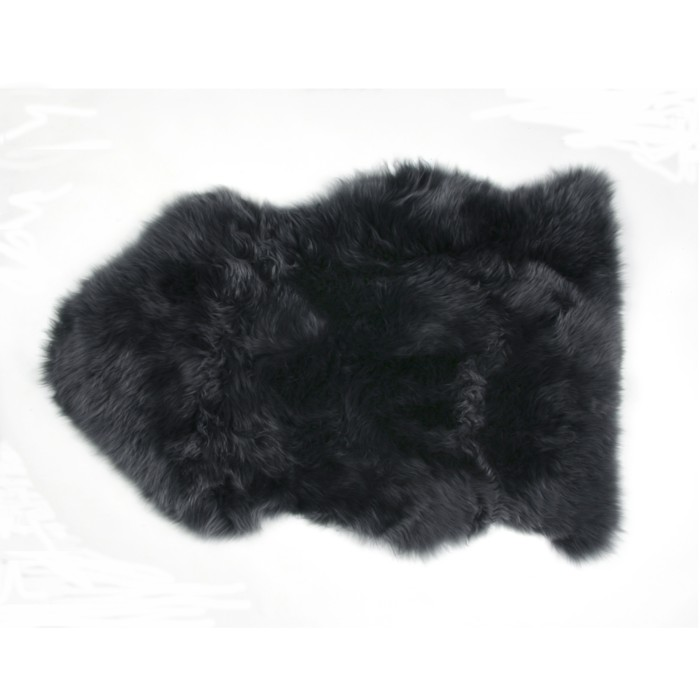 tapis peau de mouton noir fibre by auskin - Tapis Peau De Mouton