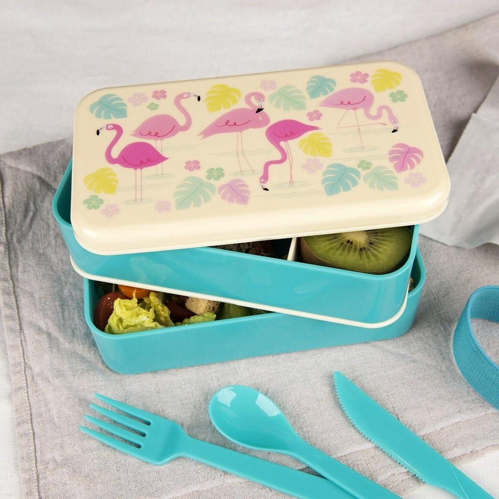 Boite Bento Lunch Box Flamingo Bay