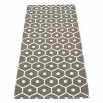 Tapis Honey Charcoal Vanille 70x160 cm Pappelina