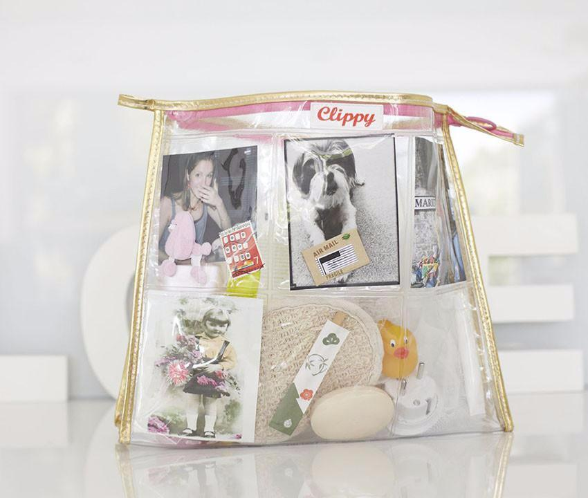 Trousse de Toilette Jumbo Washbag Gold Clippy