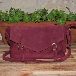 Sac Cartable Soft Bordeaux Crazy Lou