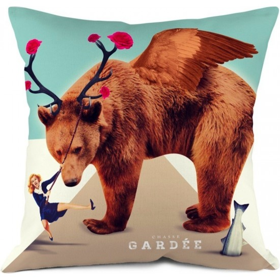Coussin Ours, Chasse Gardée Bonjour Mon Coussin