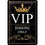 Plaque Métallique Déco VIP Parking Only 20x30 cm