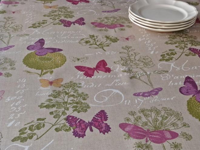 toile enduite en lin butterfly. Black Bedroom Furniture Sets. Home Design Ideas