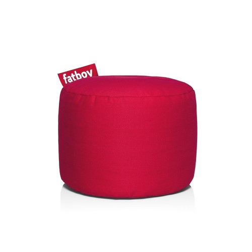 Pouf Fatboy Point Stonewashed Rouge