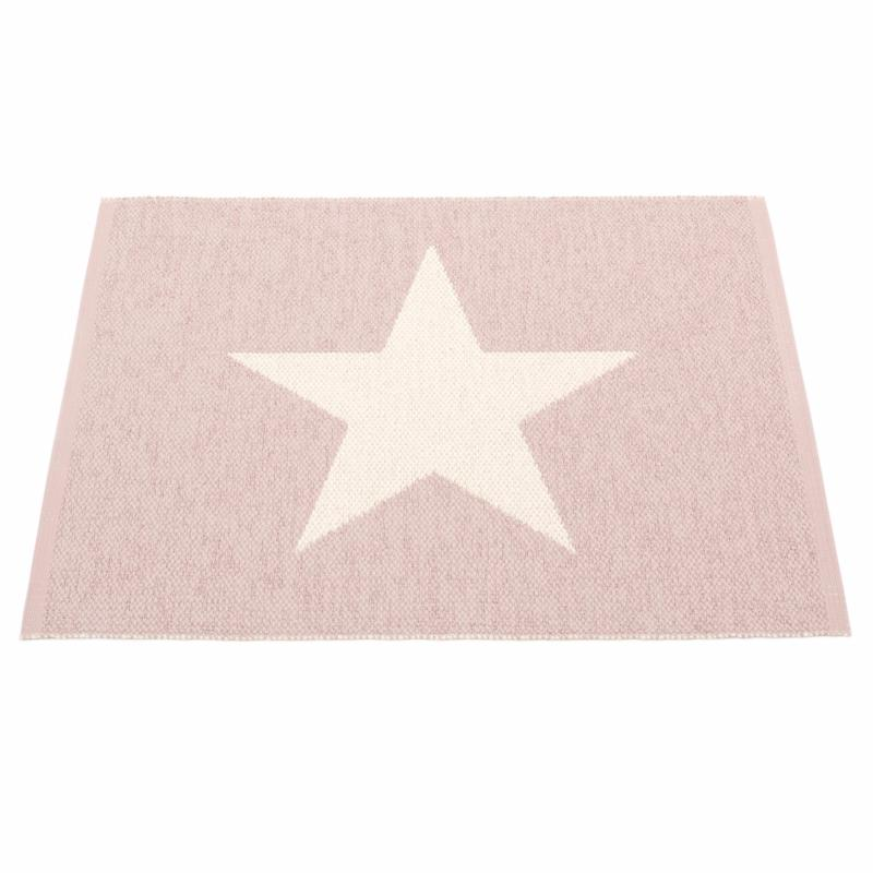 Carrelage Design tapis rose pale : Tapis Viggo Small One Rose Pu00e2le Vanille 70x90 cm Pappelina