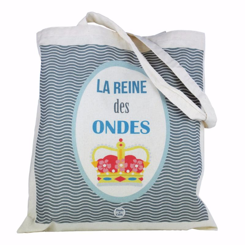 sac tote bag reine des ondes dodo et cath. Black Bedroom Furniture Sets. Home Design Ideas